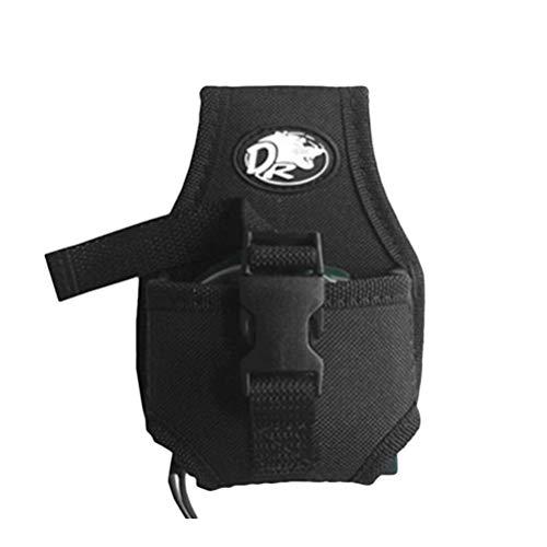 OUNONA Mini Portatile. Marsupio Addensato Tapeline Tool Bag (Nero)