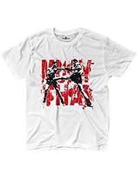 KiarenzaFD Muay Thai Clinch Boxing Fighter Ring MMA Martial Arts - Camiseta de Manga Corta, Color Blanco - KTS02327-M-white, Medium,…