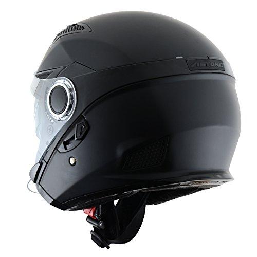 Astone-Helmets-FJ10M-MBKL-FJ10-fibra-Casco-Jet-nero-opaco-taglia-L