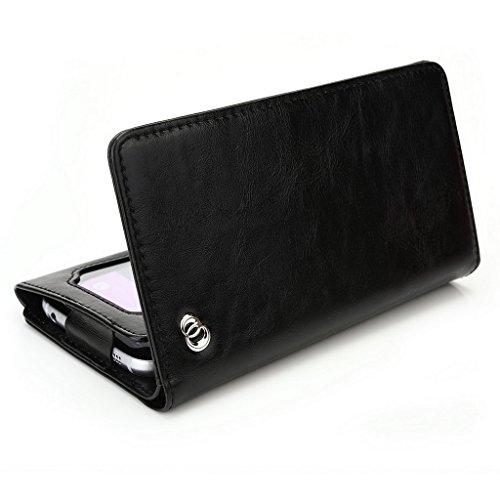 Kroo Portefeuille unisexe avec SHUKAN A500/Gloire Q5ajustement universel différentes couleurs disponibles avec affichage écran Bleu - bleu noir - noir