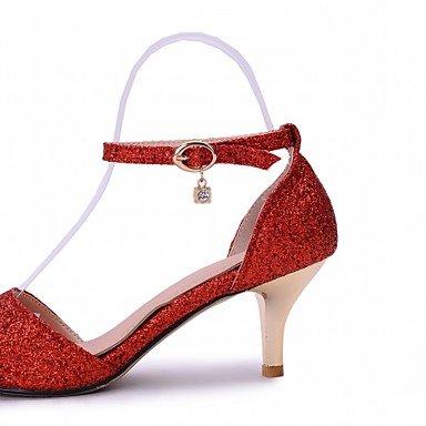 Moda Donna Sandali Sexy donna tacchi Primavera / Estate / Autunno / Inverno tacchi / Piattaforma / Novità / cinturino alla caviglia / Punta Silver