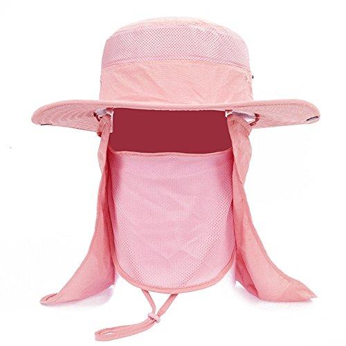 WYYY Chapeaux Hommes Visière Polyester Respirant Protection Contre Le Soleil Protection UV De Plein Air 52-60cm (Couleur : Rose)