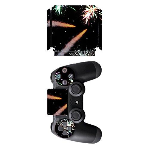 Disagu SF-sdi-5545_502 Design Folie für Sony PS 4 Slim und Controller Motiv Feuerwerk No.2 klar