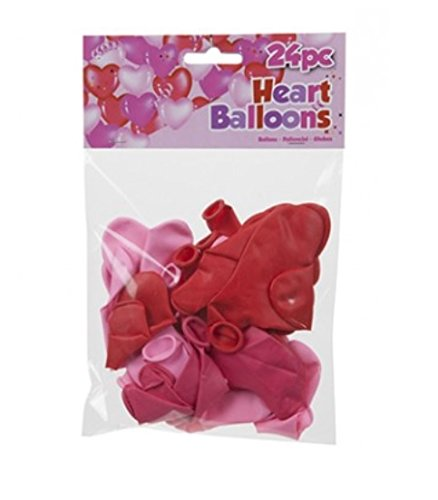 pack-of-24-heart-shaped-party-wedding-valentines-balloons-red-pink-2-sizes