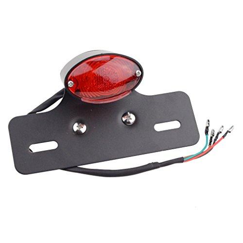 GOOFIT cromato indicatore con luce posteriore moto coda Turn Signals luce di Backup Scooter ATV per moto