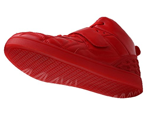 WZG Neue konventionelle Beleuchtung zwei Studenten Schuhe Tanzschuhe Geister Schritt Luminous Schuhe Männer Schuhe Männer Freizeitschuhe Blitz Red