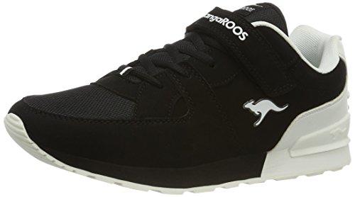 KangaROOS - K-jog Vi, Pantofole Unisex – Adulto Nero (Black/White)