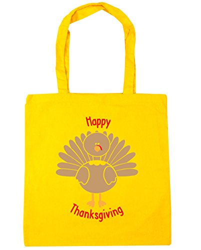 hippowarehouse-happy-thanksgiving-tote-shopping-gym-beach-bag-42cm-x38cm-10-litres