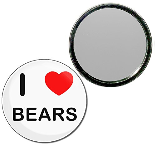 I Love Bears - 55mm ronde de miroir compact