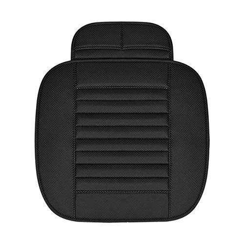 Jiobapiongxin Coprisedile per Auto in Carbone di bambù Traspirante Coprisedile per Auto Traspirante Cuscino per Sedile Posteriore Senza Schienale per Styling per Quattro Stagioni (Nero) JBP-X
