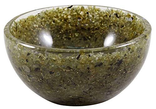 HARMONIZE Naturel Labradorite Bowl Pierre Gemstones Sculpté à la Main en Cristal Reiki générateur d'énergie
