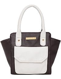 Beloved Women's PU Handbag Brown & White