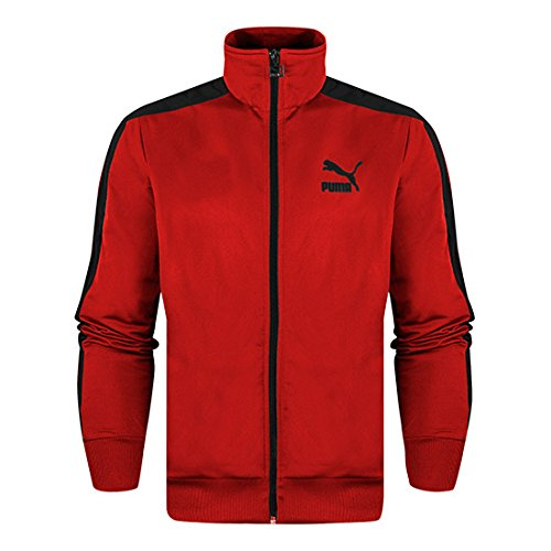 Jacket Track Herren Puma (PUMA Herren Jacke T7 Track Jacket, haute red, M, 564485 08)
