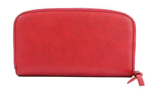 ital. Damen Portemonnaie Geldbörse Geldbeutel Geldsack Portmonee Geld Leder X685562 Rot