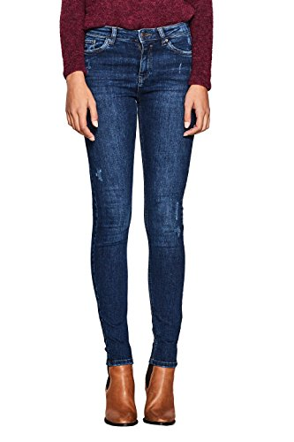 ESPRIT Damen Skinny Jeans 107EE1B015, Blau (Blue Medium Wash 902), W29/L32