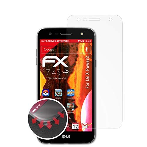 atFolix Schutzfolie passend für LG X Power2 Folie, entspiegelnde und Flexible FX Displayschutzfolie (3X)