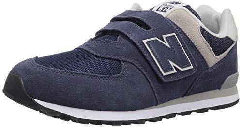 New Balance 574v2 Core Velcro, Zapatillas Unisex Niños, Azul Navy Grey GV, 21 EU