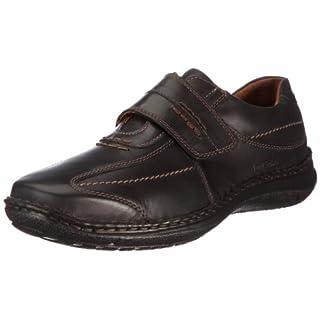 Josef Seibel Alec Herren Low-Top Sneaker   Comfort Schuhe aus Nappaleder -Schwarz (600 schwarz),44 EU