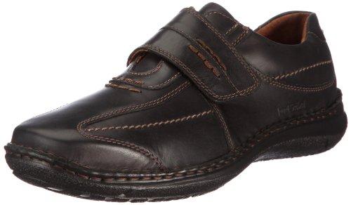Josef Seibel Alec Herren Low-Top Sneaker   Comfort Schuhe aus Nappaleder -Schwarz (600 schwarz),42 EU