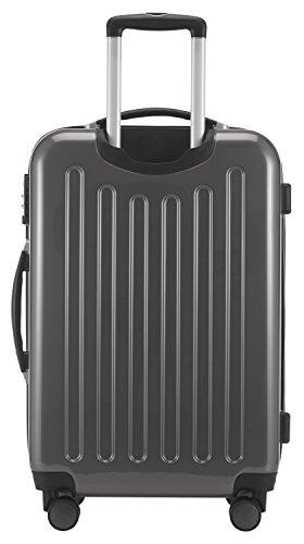 HAUPTSTADTKOFFER - Alex - NEU 4 Doppel-Rollen Hartschalen-Koffer Koffer Trolley Rollkoffer Reisekoffer, TSA, 65 cm, 74 Liter, Titan - 4