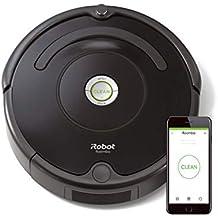 iRobot Roomba 671 Robot aspirapolvere con connessione WiFi, Adatto a tappeti e Pavimenti, Tecnologia Dirt Detect, Sistema 3 Fasi, Pulizia programmabile, Grazie alla App, Nero