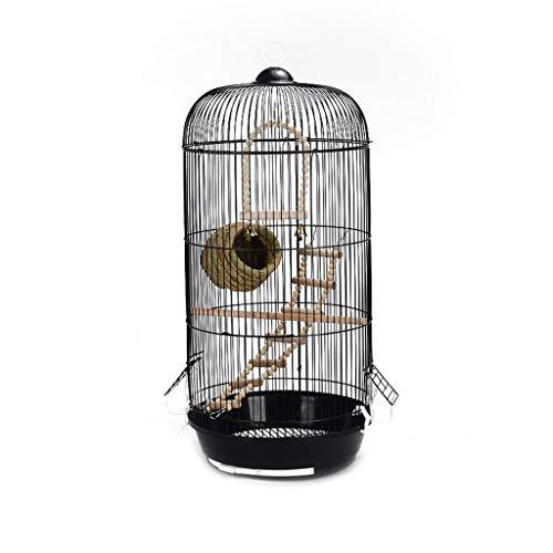 Retro Runde Metallpfingstrose Papagei Tiger Skin Villa Vogelkäfig Große Schwarz Kann Heimtextilien Hängen Draußen