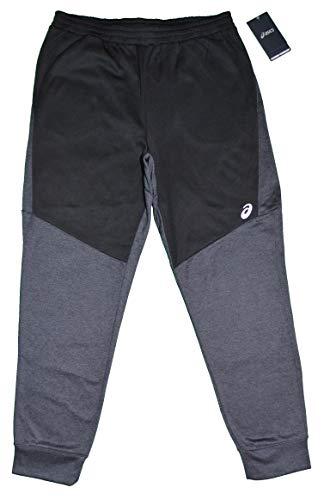 ASICS Herren TECH Fleece Performance Joggerhose (Schwarz/Grau, Größe L) - Hose Asics Workout