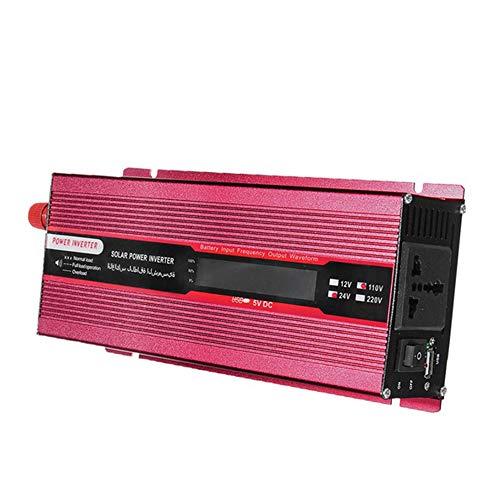 Springdoit Onduleur de Voiture Solaire Peak 1000W, Alimentation LED Haute Performance à Onde sinusoïdale DC12V à AC220V