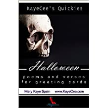 Halloween: Poems & Verses for Greeting Cards (KayeCee's Quickies Book 1) (English Edition)