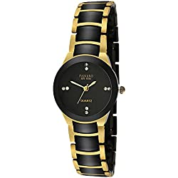Fabiano New York Black & Gold Analog Wrist Watch for Women
