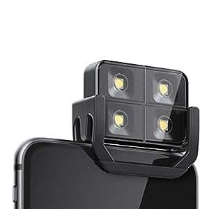 2 LED iBlazr Flash Wireless per iPhone, iPad e Androids, imballaggio da vendita al dettaglio, colore: nero