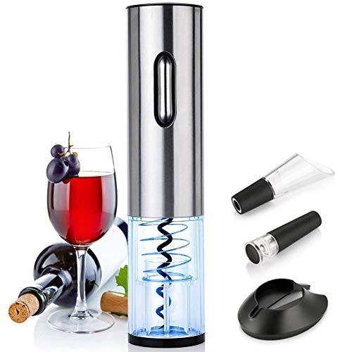 CRZJ Cavatappi Elettrico USB in Acciaio Inox Bottiglia Ricaricabile del Vino Rosso Automatico Opener Tre Pezzi