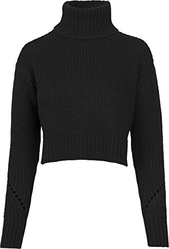 Urban Classics Damen Rollkragenpullover Ladies Hilo Turtleneck Sweater Black