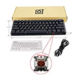 JOYKK Backlit Wired Mechanical Keyboard,Portable Compact Waterproof Mini Gaming Keyboard 61 Keys Switchs