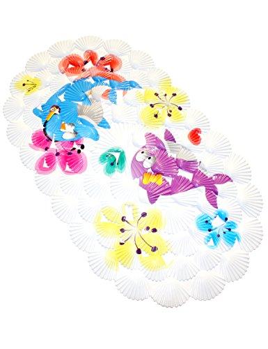 WARRAH Multiuso Bath Mat / Materiale PVC per Bambino della vasca non stuoia di slittamento Mats per i bambini e doccia bagno modello di sicurezza da Ocean Double Dolphin