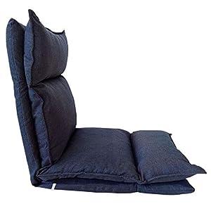 Rebecca Mobili Bodenstuhl Meditationsstuhl Blau Denim, Metall Polyesther, Wohnzimmer Terrasse Entspannung – Maße: 70 x…