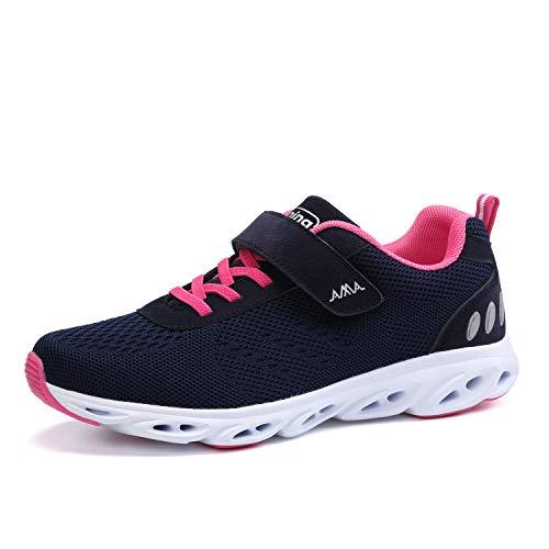 Ulogu Unisex Laufschuhe Outdoor Fitness Schuhe Leicht Atmungsaktiv Turnschuhe-Sneaker mit Klettverschluss, Gr.-35 EU, Blue
