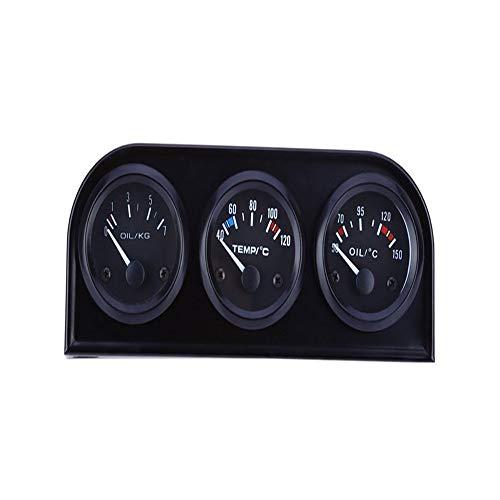 Voltage Meter Gauge B735 52 MM 3 in 1 Auto Meter Auto Gauge Wassertemperatur Öldrucksensor Triple Kit zum Auto Automobil Kraftfahrzeug