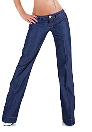 Sexy Women's Ladies Wide leg Bootcut washed Blue Jeans Size UK 6-14 (Tag 40 L fits waist 31-32 inches ( 78.5-81 cm))