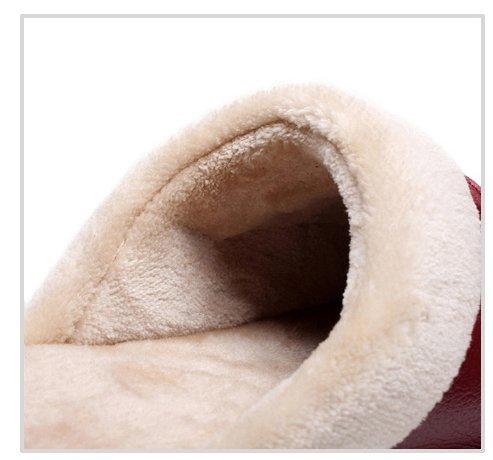 TELLW Pantofole e Pantofole Invernali Calde da Uomo e da Donna a casa Pantofole di Peluche arancia