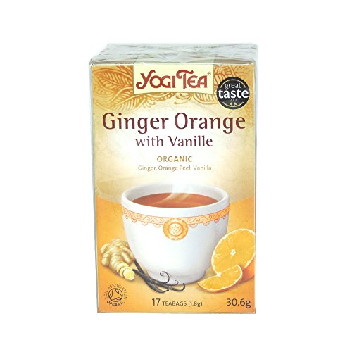 Yogi Tea - Ginger Orange with Vanilla - 30.6g (Case of 6)