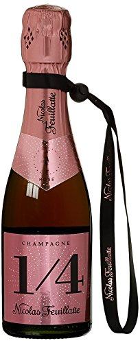 Nicolas Feuillatte Champagner 1/4 One Fo(u)r Rosé Piccolo mit Bändchen (1 x 0.2 l)