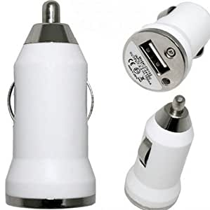 LUPO Universal USB Car Charger for ALL iPhones, iPods, iPads, Tablets, Mobile Phones - WHITE
