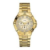 Reloj Guess W13573L1 de cuarzo para mujer con correa de acero inoxidable, color dorado de Guess