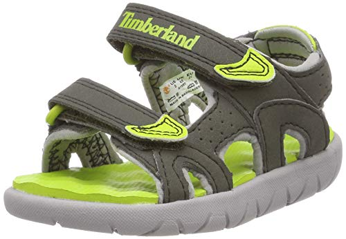 Timberland Unisex-Kinder Perkins Row-2-Strap Sandalen, Grün (Forest Night B77), 24 EU