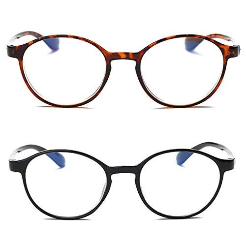 Inlefen Lesebrille 2 Pack Anti Blaulicht Frauen Männer Computer Lesebrille Schutzbrillen