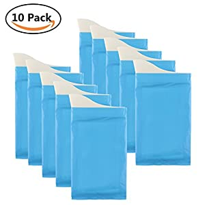 41OUSQRsOzL. SS300  - GGBuy Disposable Urine Bags Camping Travel Disposable Urinal Toilet Super Absorbent Traffic Jam Emergency Portable Urine Bag Pee Bags Car Toilet for Men Women Children Brief Relief, 10Pcs