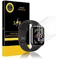 LK Protector de Pantalla para Apple Watch Series 4(40mm, [6 Piezas] Piel líquida [Sin Burbujas] HD Film Flexible Transparente para Apple Watch 40mm [garantía de reemplazo de por Vida]