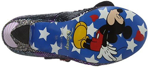 Irregular Choice - I Heart Minnie, Scarpe col tacco Donna Purple (Purple Metallic)