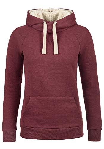 BlendShe Julia Pile Damen Hoodie Kapuzenpullover Pullover mit Kapuze, Größe:L, Farbe:Zinfandel mit Teddy-Futter (73006)
